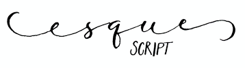 Esque Script : Nashville Based Calligraphy