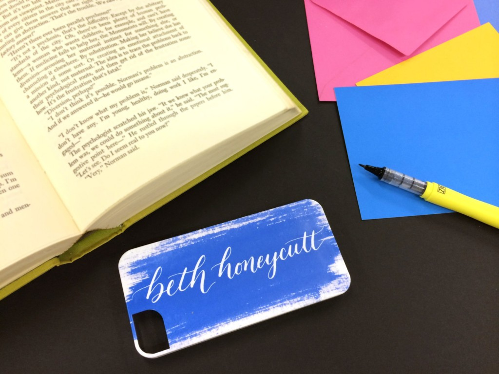 personalized calligraphy iphone case